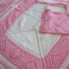 SWEET HEARTS (baby blanket & bib set)