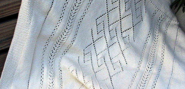 HEIRLOOM DIAMOND LACE BABY BLANKET